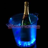 Ice Blue LED Champagne Bucket