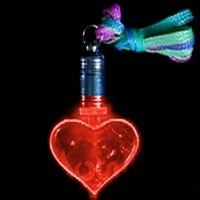 Flashing Red Heart Necklace