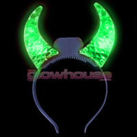 Flashing Green Devil Horns