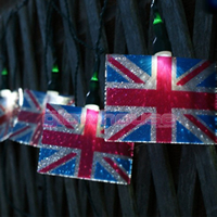 Union jack solar lights
