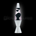Chrome Black Lava Lamp