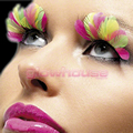 UV Neon Feather Eyelashes