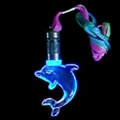 Flashing Blue Dolphin Necklace