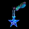 Flashing Blue Star Necklace