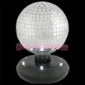 Rotating Disco Ball with LED Base