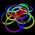Tri Colour Glow Bracelets 100 Pack