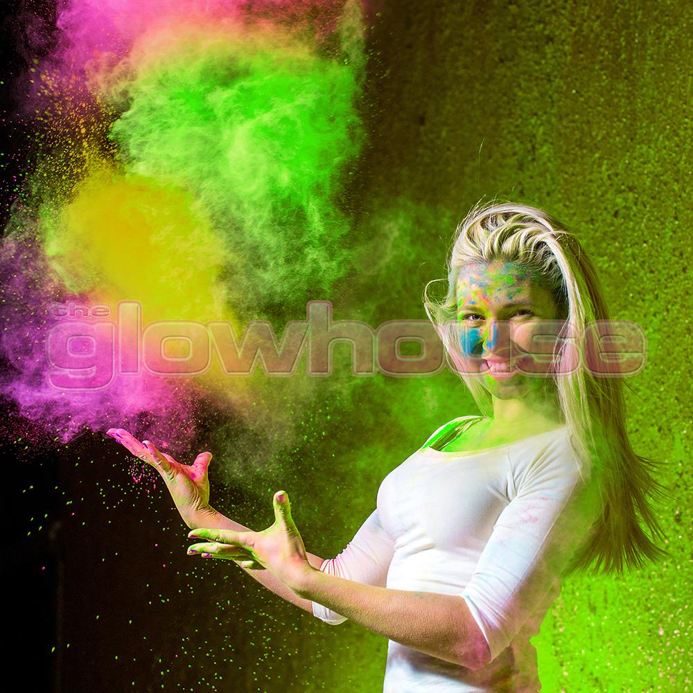 6 x 100g UV Reactive Neon Holi Powder Colour Run Festival ... | 1000 x 1000 jpeg 1199kB